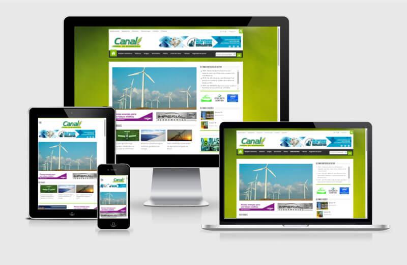 Desenvolvimento de site da Canal Bioenergia